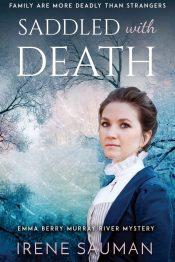 bargain ebooks Saddled with Death Mystery by Irene Sauman