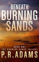 PR Adams beneath burning sands