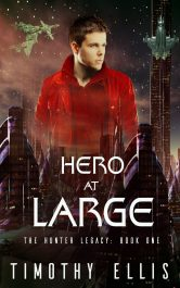bargain ebooks Hero at Large Science Fiction by Timothy Ellis