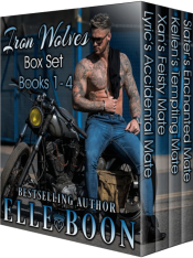 bargain ebooks Iron Wolves MC Box Set Paranormal Romance by Elle Boon