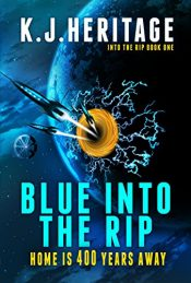 amazon bargain ebooks Blue Into The Rip Time Travel Scifi by K.J. Heritage