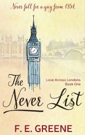 bargain ebooks The Never List Time Travel Romance by F. E. Greene