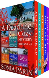 bargain ebooks Eve Lloyd's A Deadline Cozy Mystery - Books 1-5 Cozy Mystery by Sonia Parin