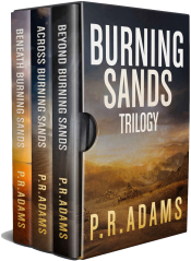 bargain ebooks The Burning Sands Trilogy Omnibus Post-Apocalyptic SciFiby P.R. Adams