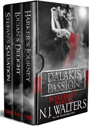 bargain ebooks Dalakis Passion Boxed Set: Books 1–3 Erotic Romance by N. J. Walters