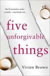 amazon bargain ebooks Five Unforgivable Things Historical Thriller by Vivien Brown