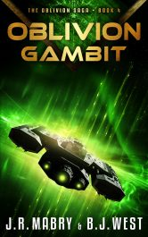 bargain ebooks Oblivion Gambit Military Science Fiction by J.R. Mabay & B.J. West