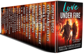 bargain ebooks Love Under Fire Romantic Suspense by Multiple Authors