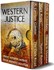 bargain ebooks Western Justice Three Mystery Novellas by Multiple Authors