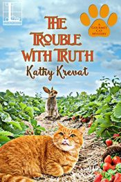 amazon bargain ebooks The Trouble with Truth Cozy Mystery by Kathy Krevat