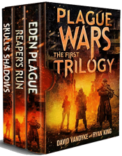 bargain ebooks Plague Wars: The First Trilogy Science Fiction by David VanDyke & Ryan King
