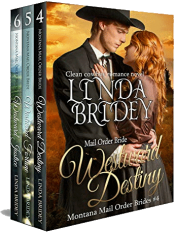 bargain ebooks Montana Mail Order Bride Box Set Historical Romance by Linda Bridey