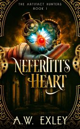 amazon bargain ebooks Nefertiti's Heart Steampunk Science Fiction by A.W. Exley