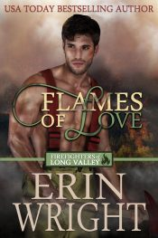 bargain ebooks Flames of Love - A Western Fireman Romance Novel Western Romance by Erin Wright