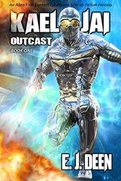 bargain ebooks Outcast Cyberpunk SciFi Adventure by E.J. Deen