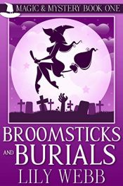 amazon bargain ebooks Broomsticks and Burials Cozy Mystery by Lilly Webb