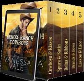bargain ebooks Lenox Ranch Cowboys Erotic Romance by Vanessa Vale