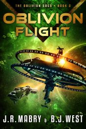 bargain ebooks Oblivion Flight Military Science Fiction by J.R. Mabry & B.J. West