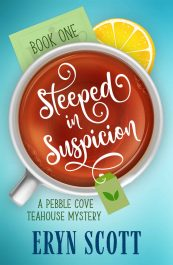 bargain ebooks Steeped in Suspicion Cozy Mystery by Eryn Scott