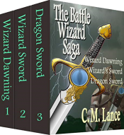bargain ebooks The Battle Wizard Saga: Books One, Two, and Three Contemporary Fantasy by C.M. Lance