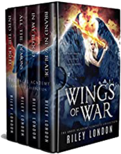 bargain ebooks Wings of War: The Angel Academy Complete Series Paranormal Romance by Riley London