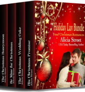 bargain ebooks Holiday Luv Bundle: Four Christmas Romances Sweet Contemporary Romance by Alicia Street