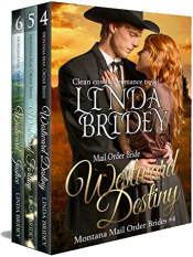 bargain ebooks Montana Mail Order Bride Box Set (Westward Series) - Books 4 - 6 Historical Romance by Linda Bridey