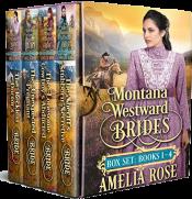 bargain ebooks Montana Westward Brides: Books 1-4 Historical Romance by Amelia Rose