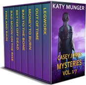 bargain ebooks Casey Jones Mysteries Vol. 1-7 (Casey Jones Mystery Series) Mystery by Katy Munger