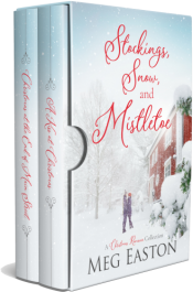 bargain ebooks Stockings, Snow, and Mistletoe Clean & Wholesome, Christmas, Contemporary Romance by Meg Easton
