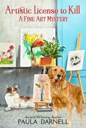 amazon bargain ebooks Artistic License to Kill Cozy Mystery by Paula Darnell
