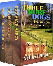 bargain ebooks Three More Dogs in a Row Golden Retriever Mysteries 4 - 6 Mystery by Neil Plakcy