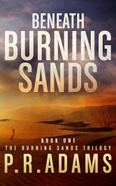 PR Adams beneath burning sands