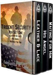 bargain ebooks Trident Security Series Box Set One Leather & Lace, His Angel, Waiting for Him Military Romance by Samantha A. Cole