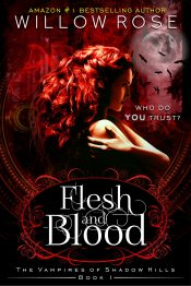 bargain ebooks Flesh and Blood (The Vampires of Shadow Hills Book 1) YA Paranormal Romance by Willow Rose