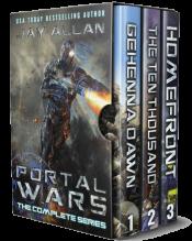 bargain ebooks Portal Wars: The Trilogy Science Fiction Adventure by Jay Allan