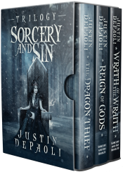 bargain ebooks Sorcery and Sin: The Complete Trilogy Epic Dark Fantasy Horror by Justin DePaoli