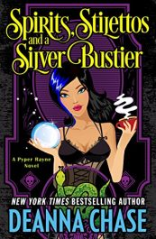bargain ebooks Spirits, Stilettos, and a Silver Bustier Cozy Mystery by Deanna Chase