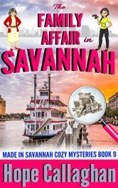 bargain ebooks The Family Affair in Savannah Cozy Mystery by Hope Callaghan